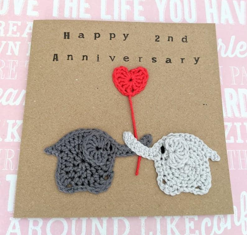 Handmade-2nd-Anniversary-Card