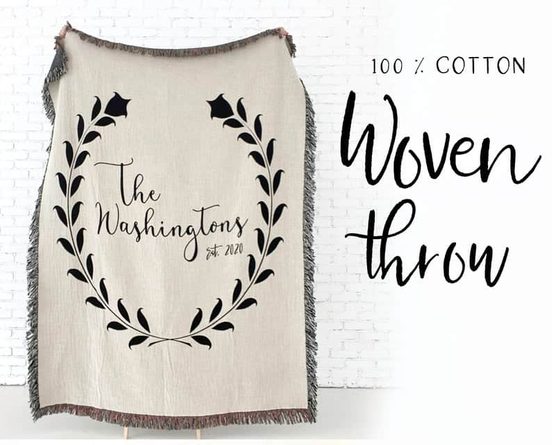 Personalized-Cotton-Throw-Blanket